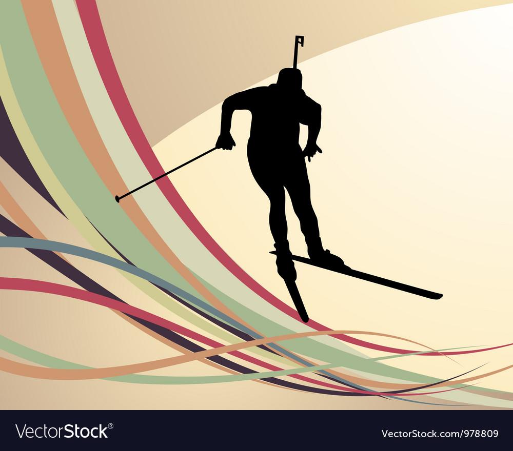 Biathlon background vector | Price: 1 Credit (USD $1)