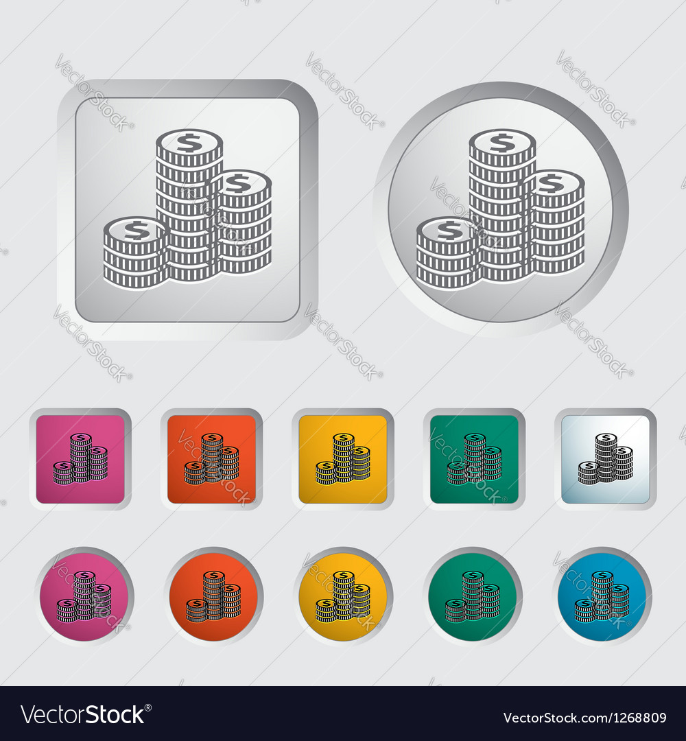 Icon coins vector | Price: 1 Credit (USD $1)
