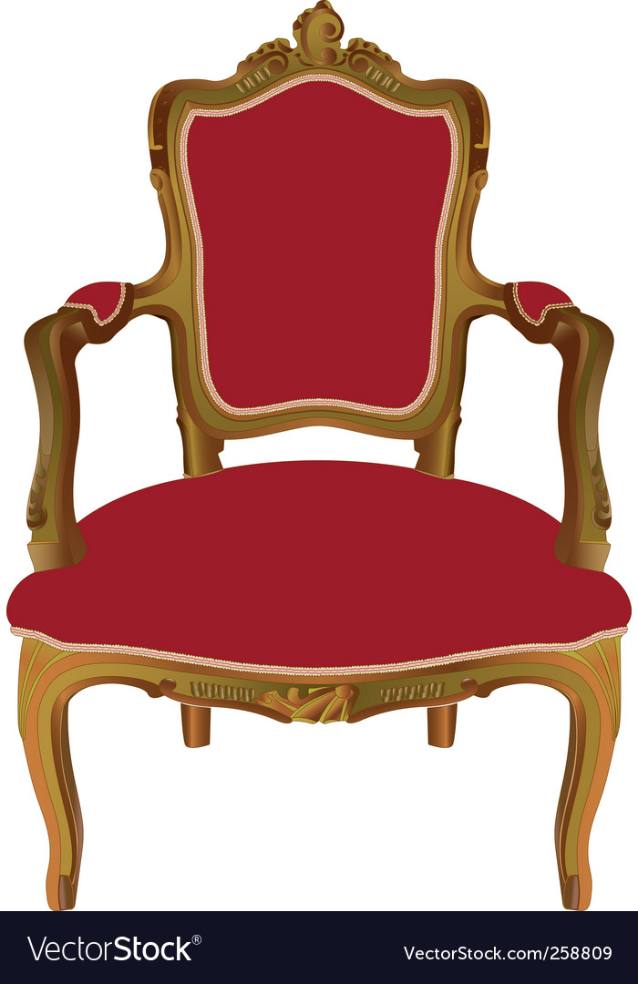 Louis xv armchair vector | Price: 1 Credit (USD $1)