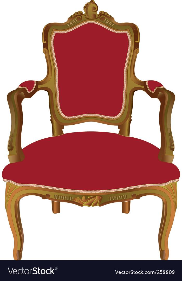 Louis xv armchair vector | Price: 1 Credit (USD $1)