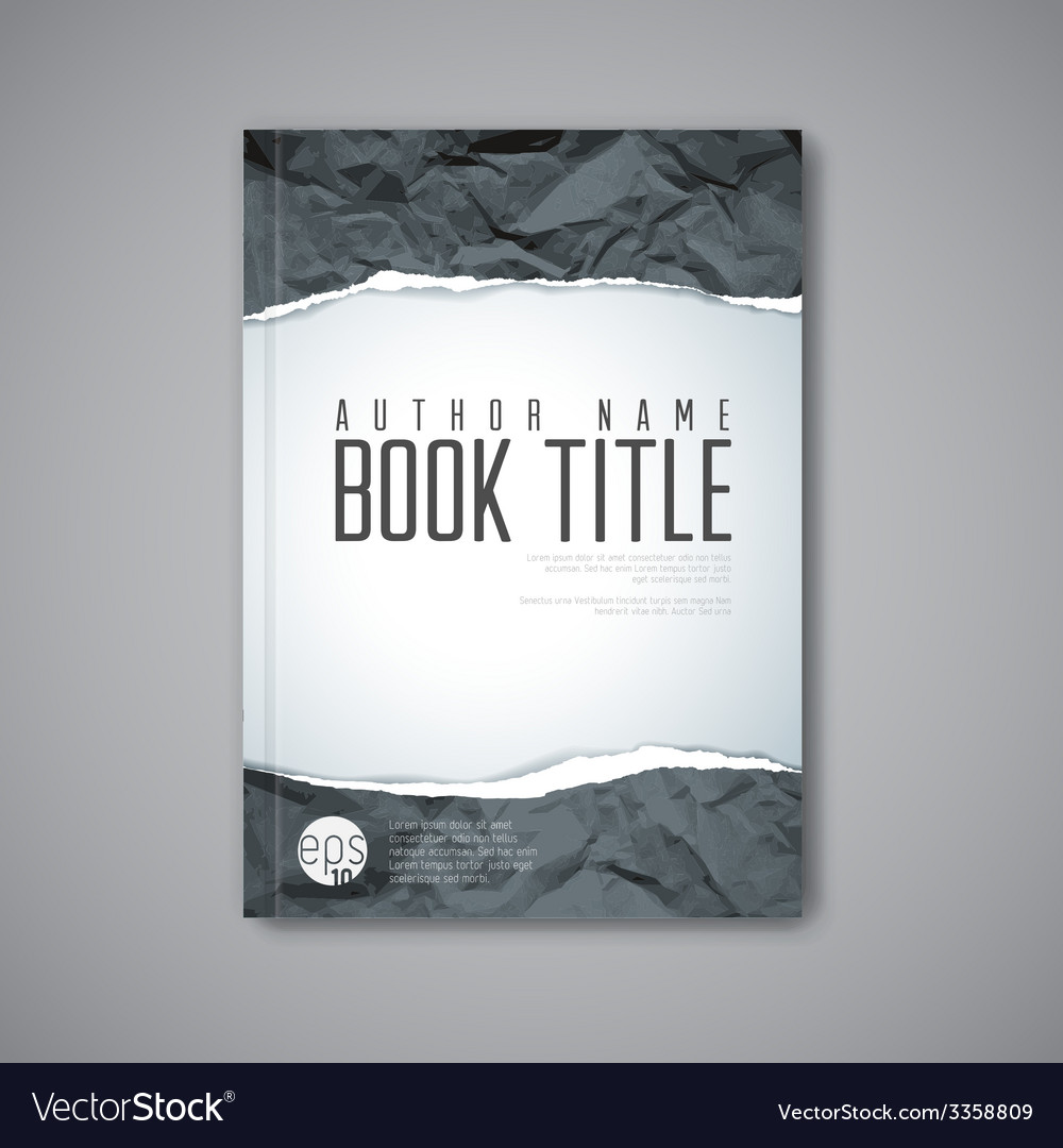 Modern abstract book cover template vector | Price: 1 Credit (USD $1)