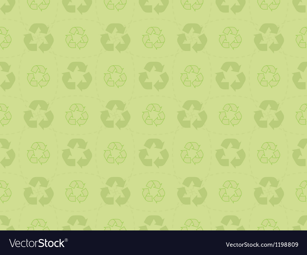 Pattern with recycle icons vector | Price: 1 Credit (USD $1)