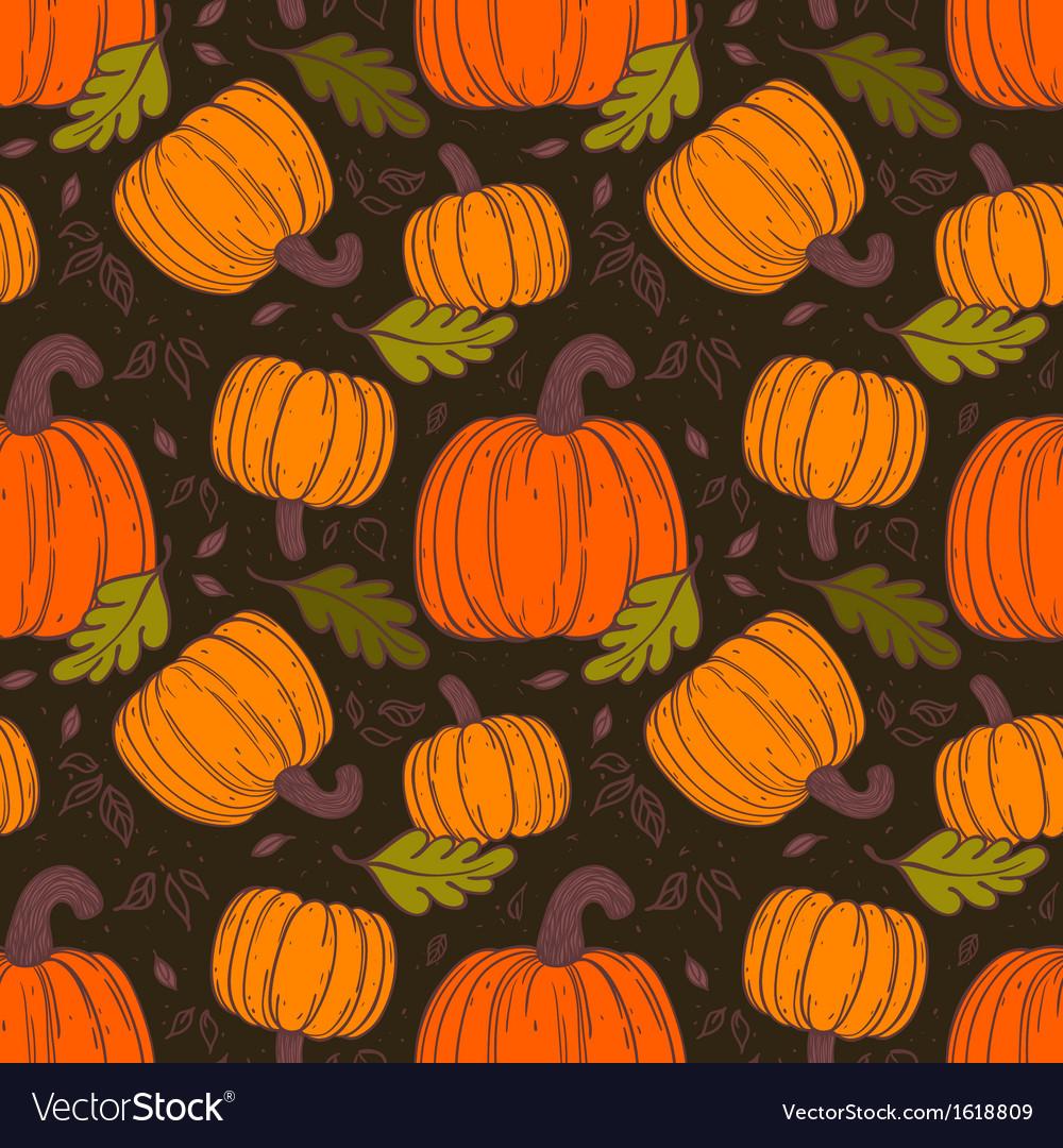 Pumpkin seamless pattern vector | Price: 1 Credit (USD $1)