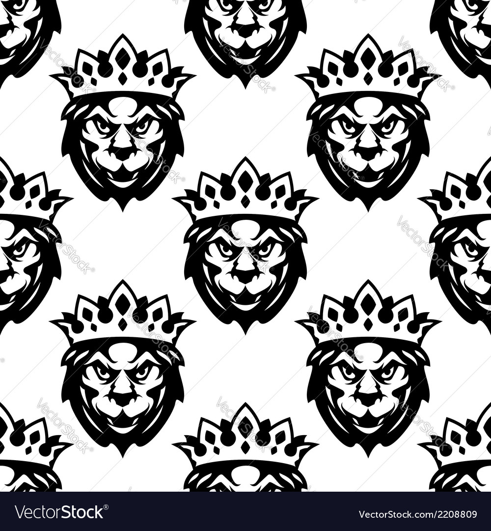 Seamless pattern of a royal lion vector | Price: 1 Credit (USD $1)