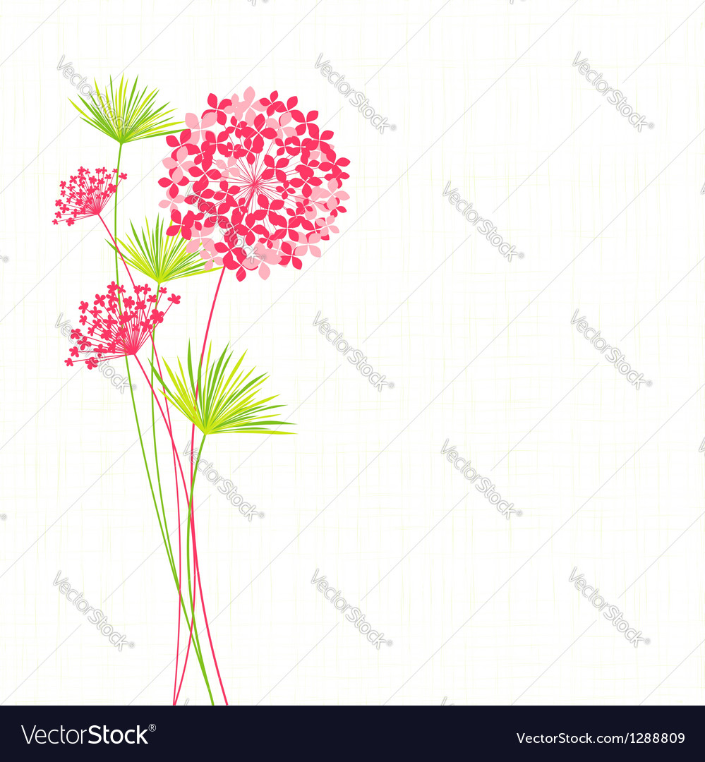 Springtime hydrangea flower vector | Price:  Credit (USD $)