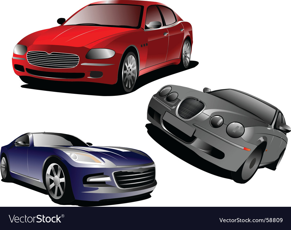 Three cars vector | Price: 1 Credit (USD $1)