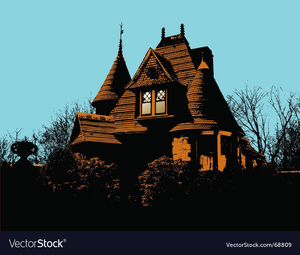 Victorian house vector | Price: 1 Credit (USD $1)
