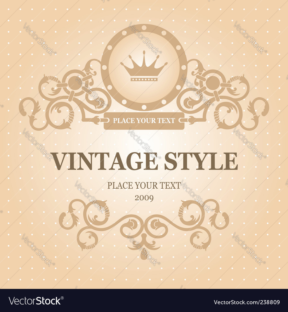 Vintage frame editable vector | Price: 1 Credit (USD $1)