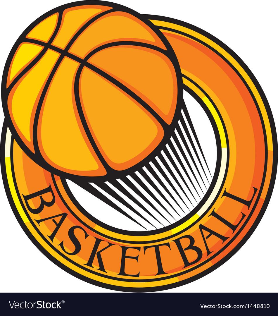 Basketball club emblem vector | Price: 1 Credit (USD $1)
