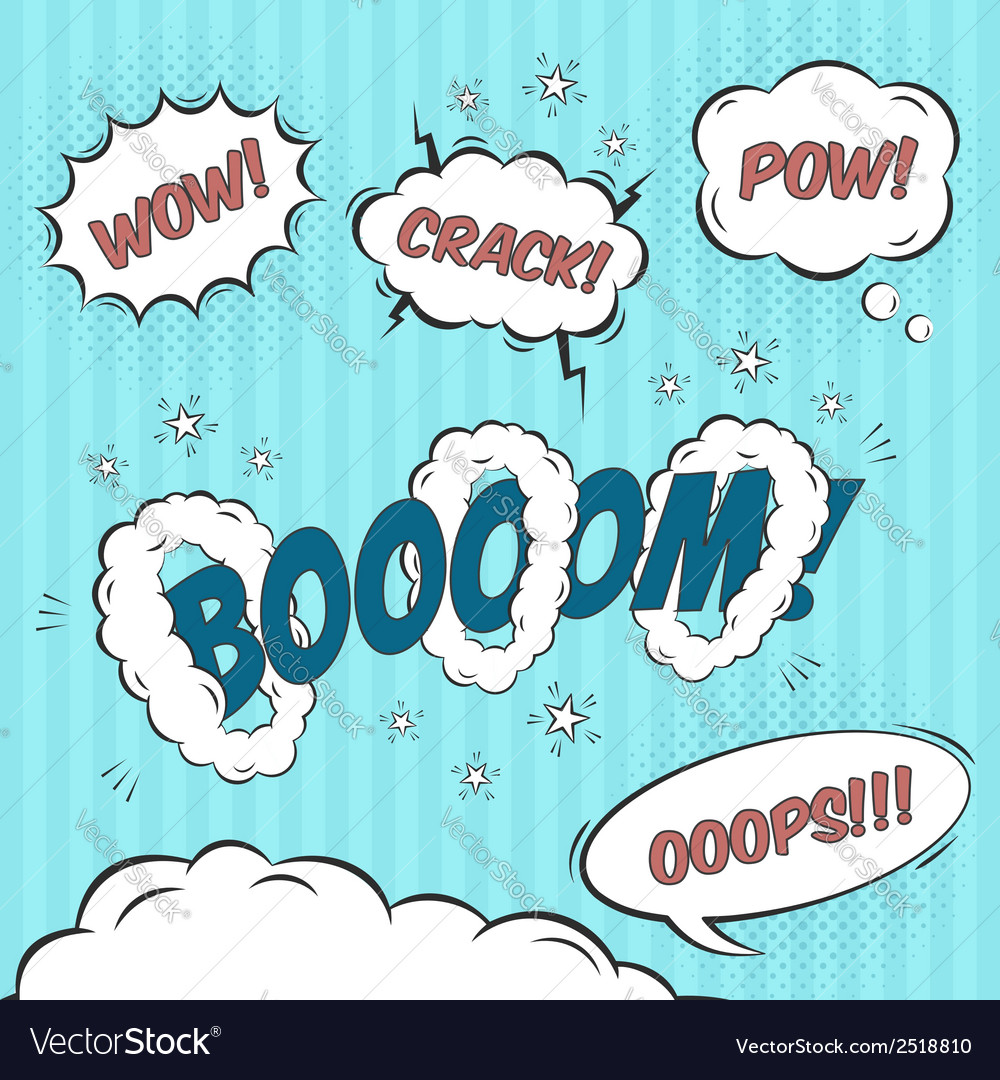Comic speech bubbles design elements vector | Price: 1 Credit (USD $1)