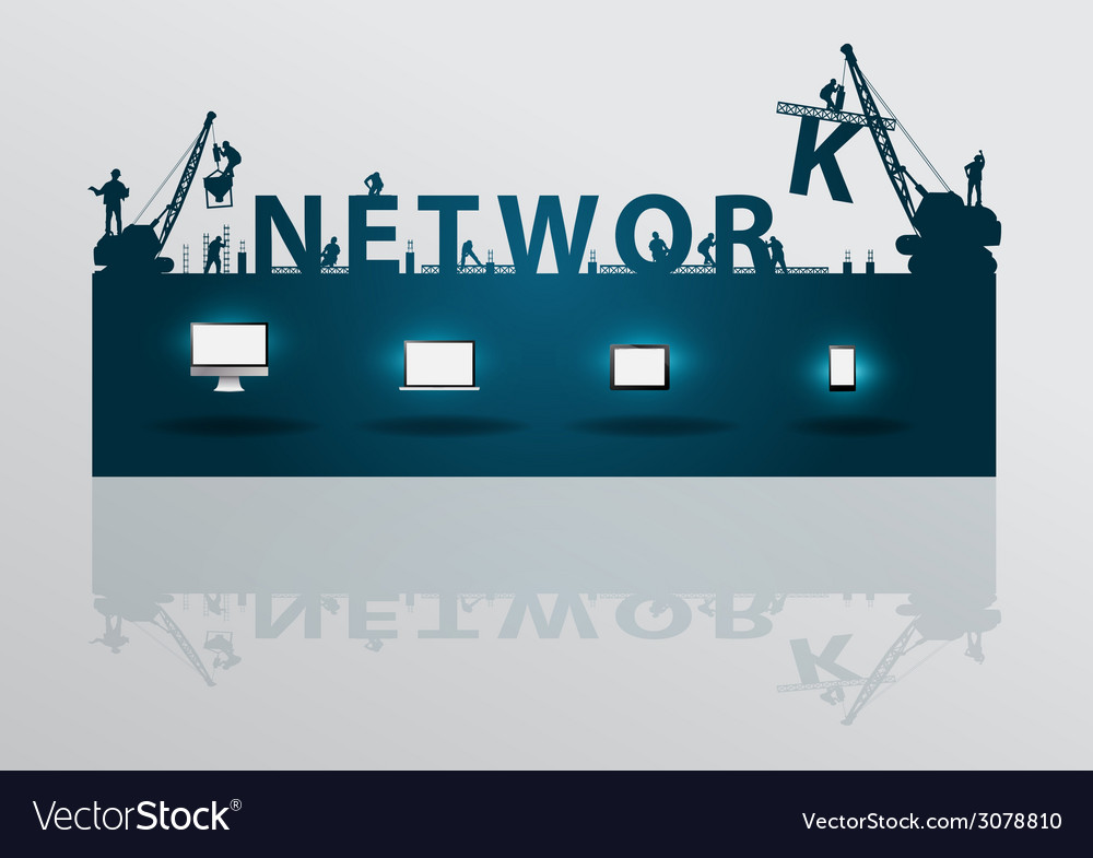 Construction site crane building network text vector | Price: 1 Credit (USD $1)