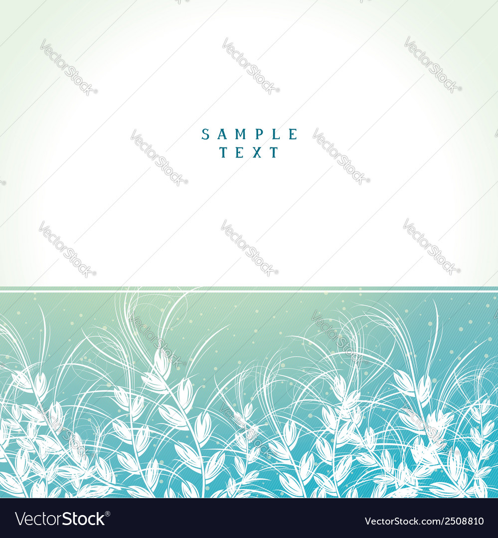 Cover card with floral arrangement vector | Price: 1 Credit (USD $1)