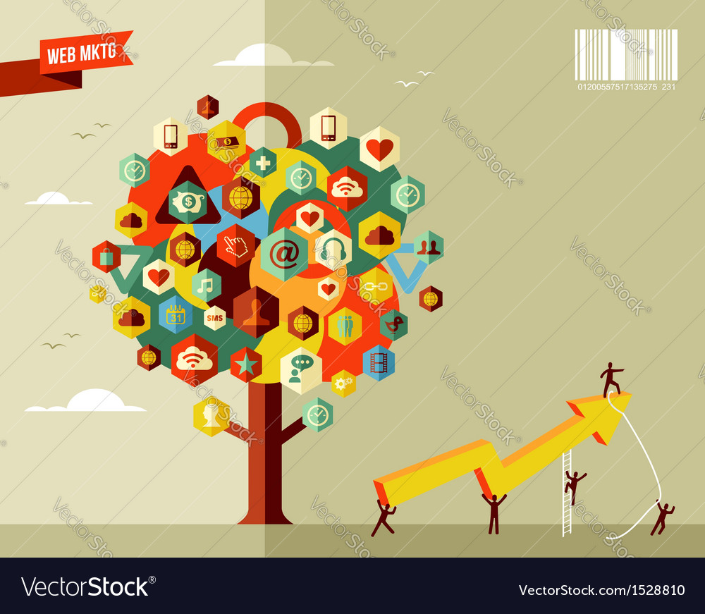 Marketing business tree vector | Price: 1 Credit (USD $1)