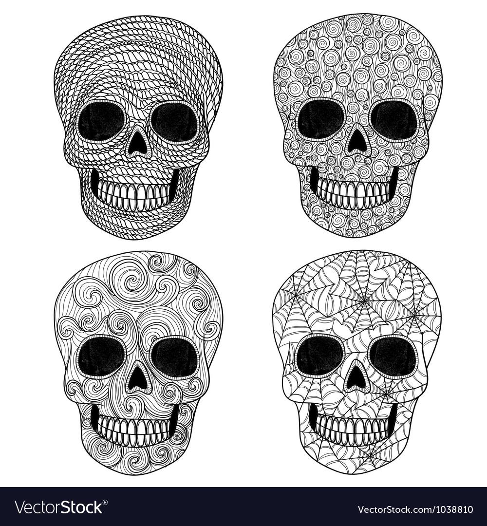 Ornament skull set vector | Price: 1 Credit (USD $1)