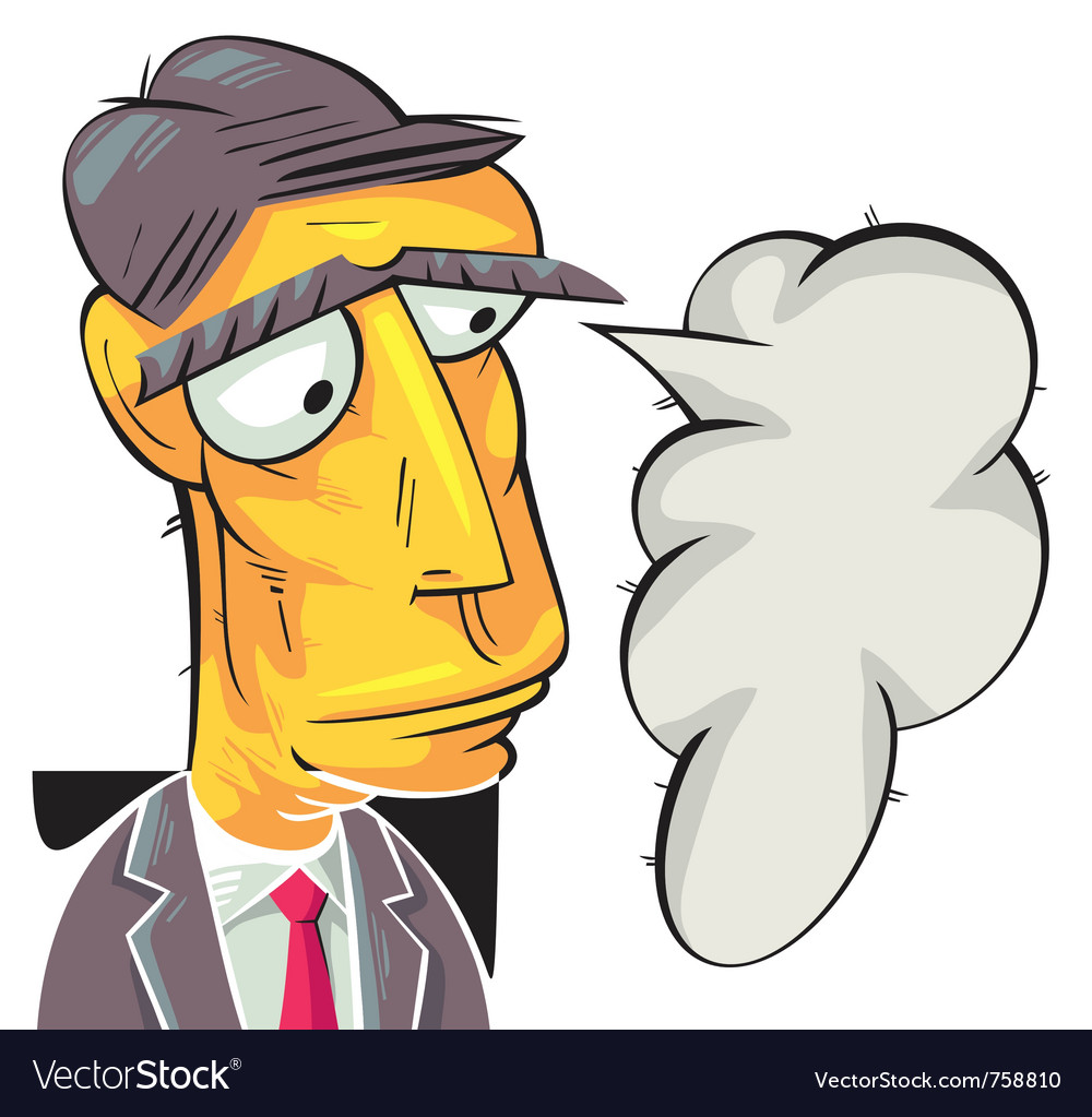 Serious businessman thinking vector | Price: 3 Credit (USD $3)