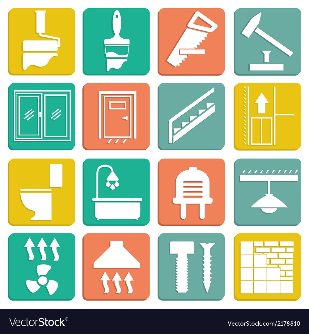 Set icons repair vector | Price: 1 Credit (USD $1)