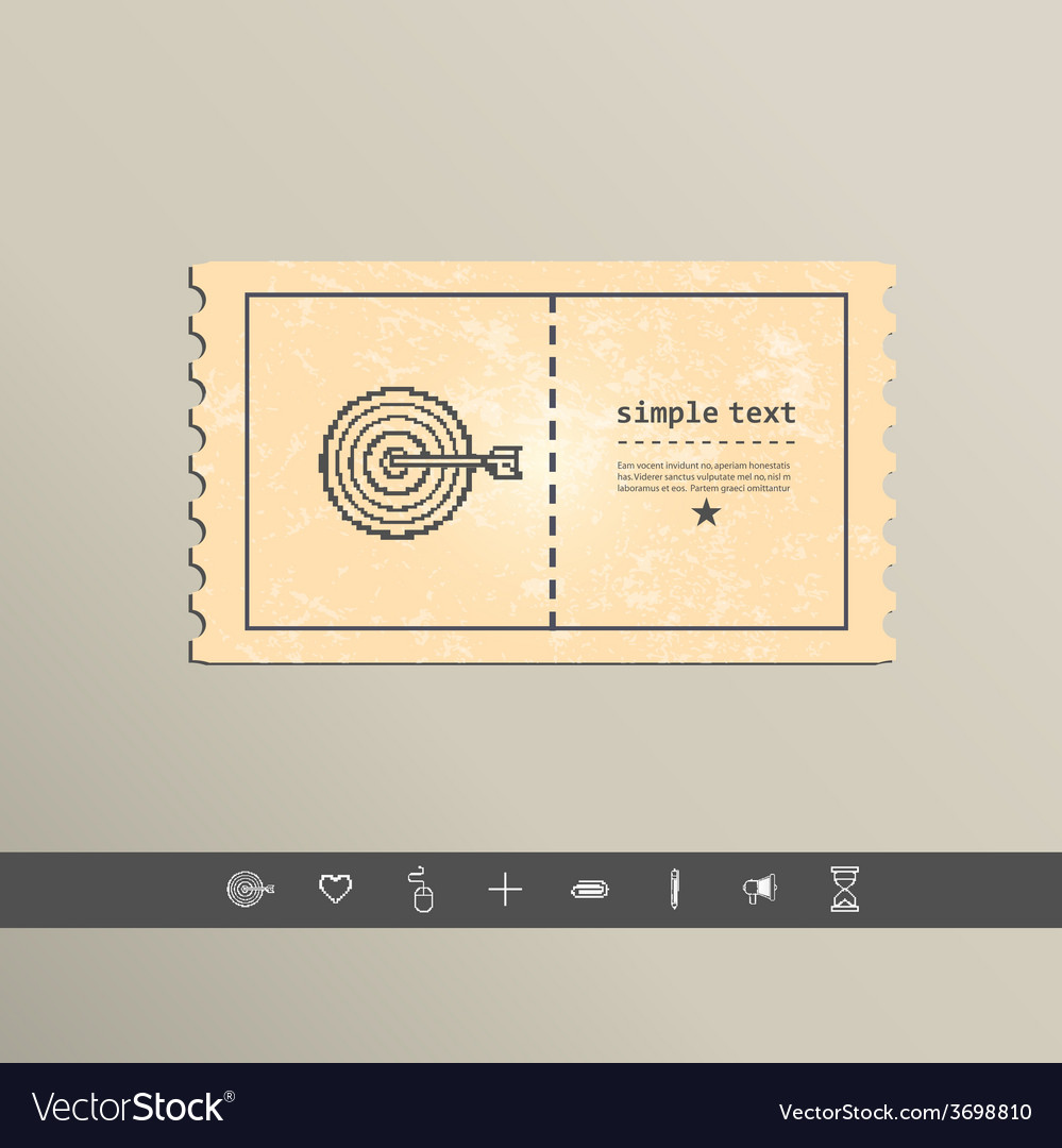 Simple stylish pixel icon darts design vector | Price: 1 Credit (USD $1)