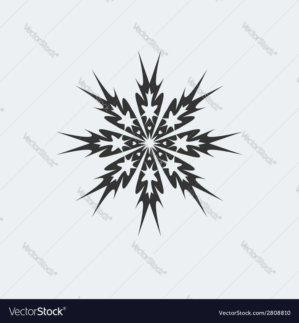 Snowflake icon vector   Price: 1 Credit (USD $1)