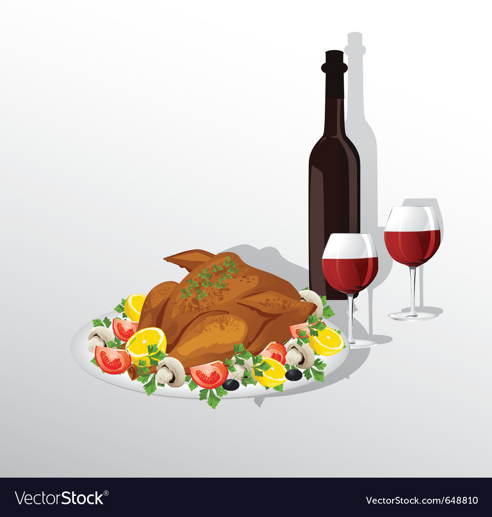 Thanksgiving dinner vector | Price: 1 Credit (USD $1)