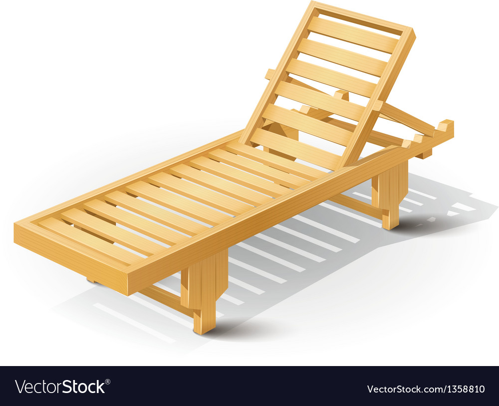 Wooden beach bed vector | Price: 1 Credit (USD $1)