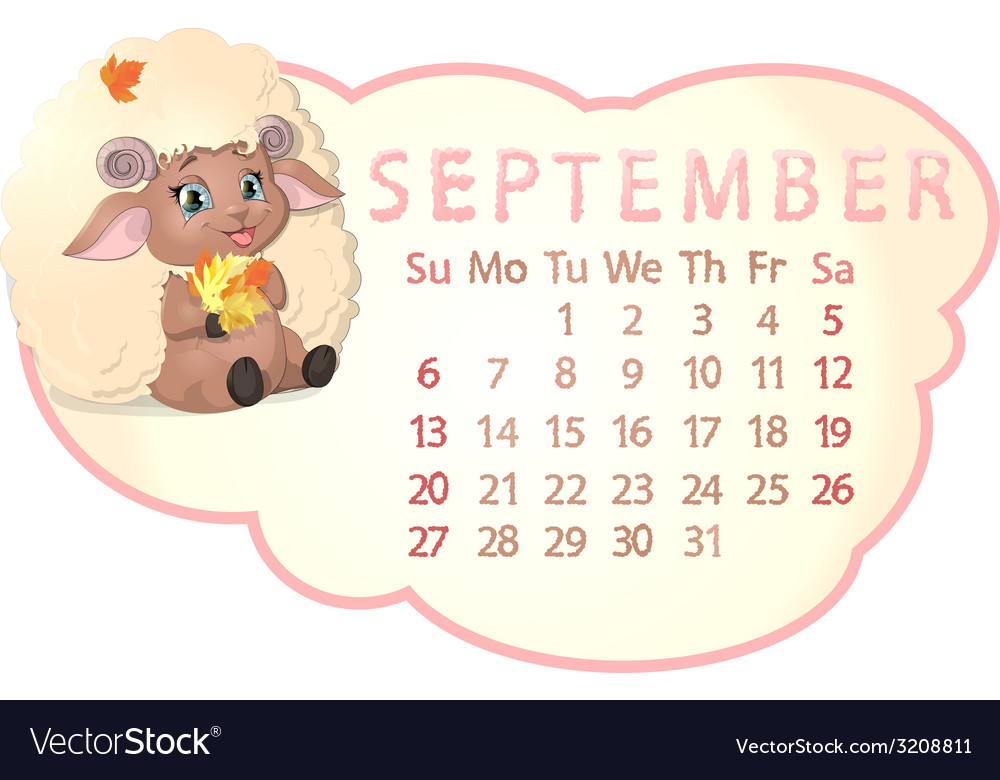 Beautiful calendar vector | Price: 1 Credit (USD $1)