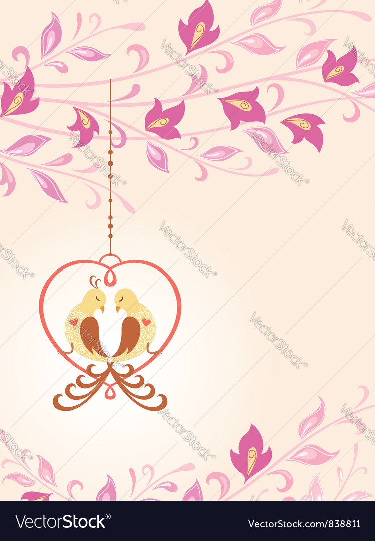 Birds in love vector | Price: 1 Credit (USD $1)