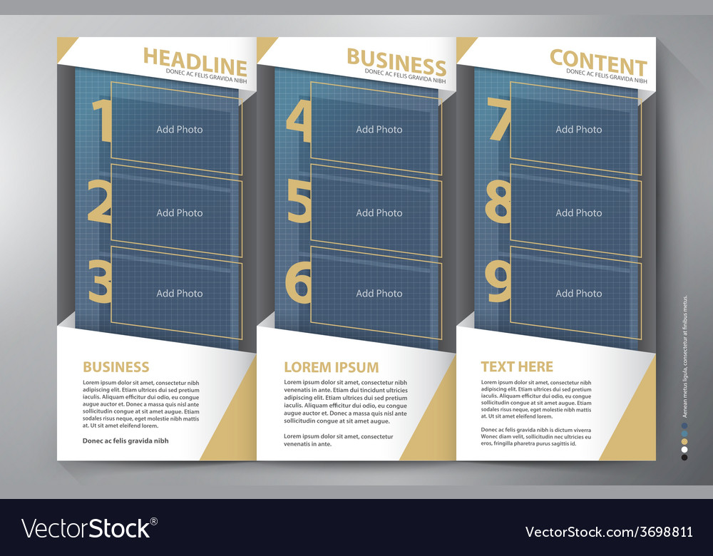 Brochure leaflet design tri-fold template vector | Price: 1 Credit (USD $1)