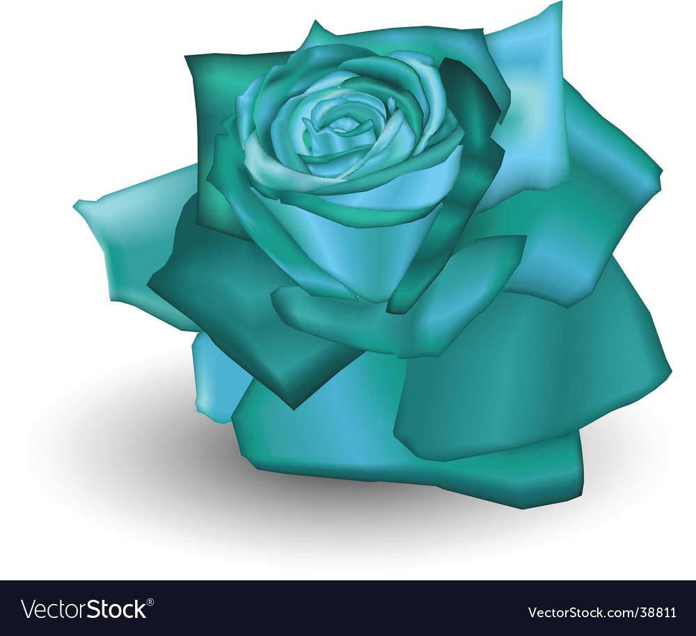 Cyan rose vector | Price: 1 Credit (USD $1)