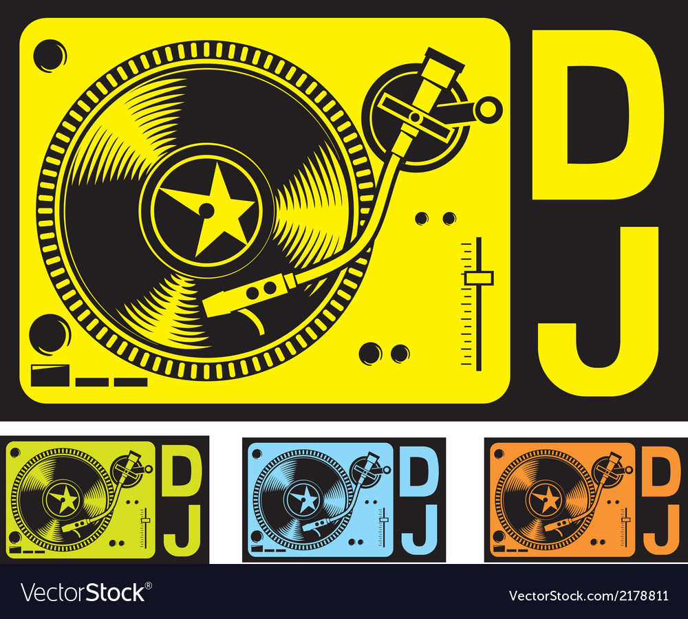Dj music turntable vector | Price: 1 Credit (USD $1)