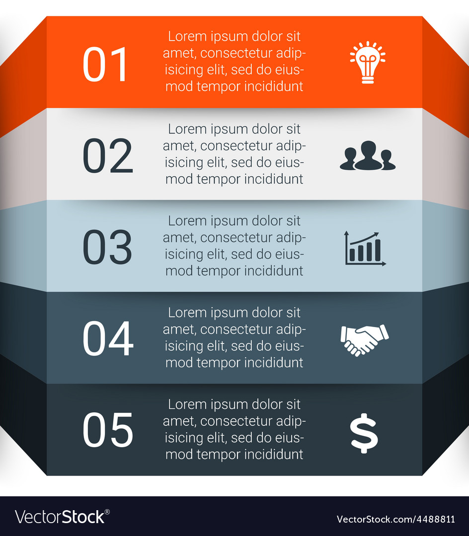 Infographic template for diagram graph vector   Price: 1 Credit (USD $1)