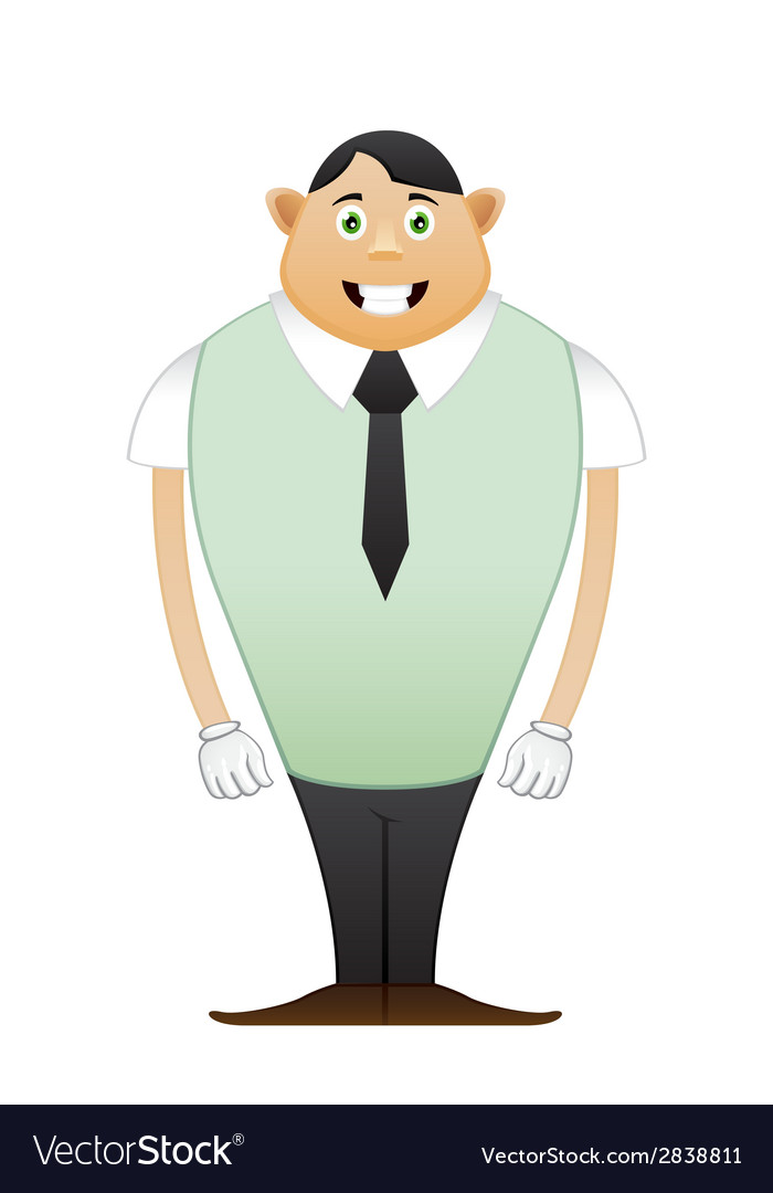 Modest beginner office man vector | Price: 1 Credit (USD $1)