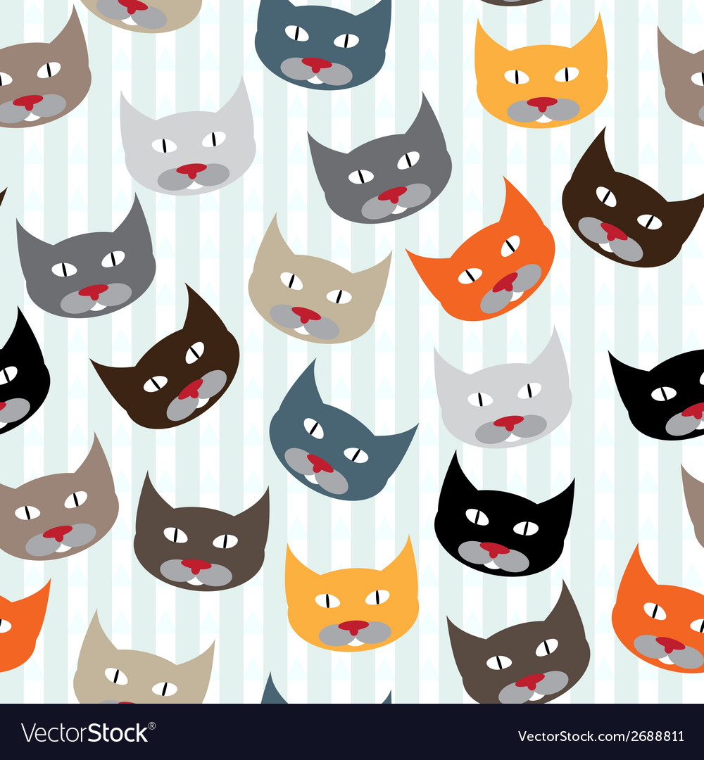 Pattern with cats vector | Price: 1 Credit (USD $1)