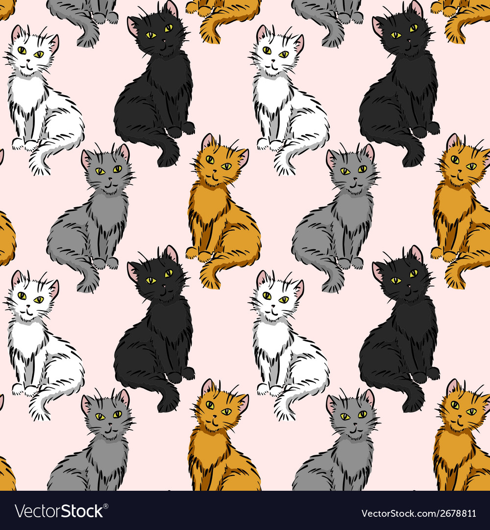 Sitting cats vector | Price: 1 Credit (USD $1)