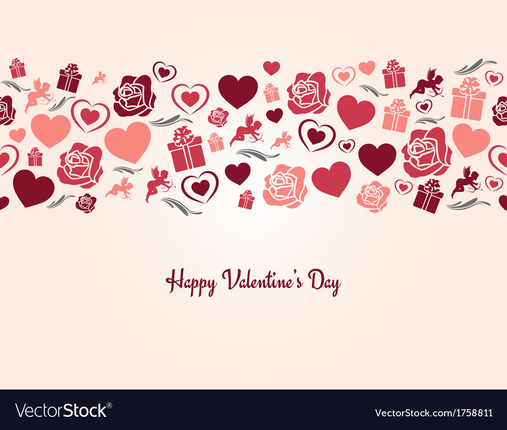 Valentines day heart seamless background vector | Price: 1 Credit (USD $1)