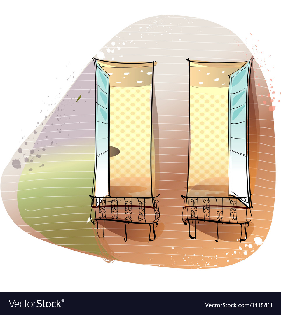 Window balcony background vector | Price: 1 Credit (USD $1)