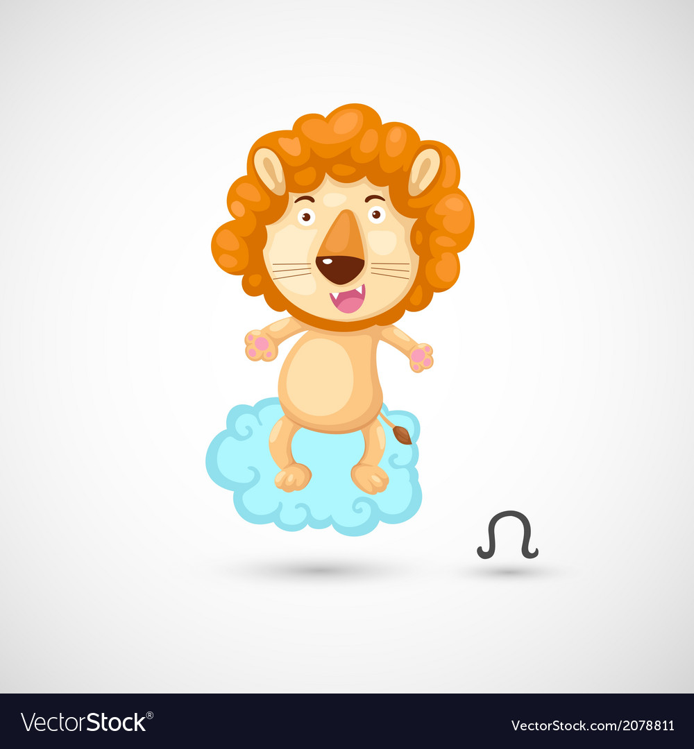 Zodiac signs - lion vector | Price: 1 Credit (USD $1)