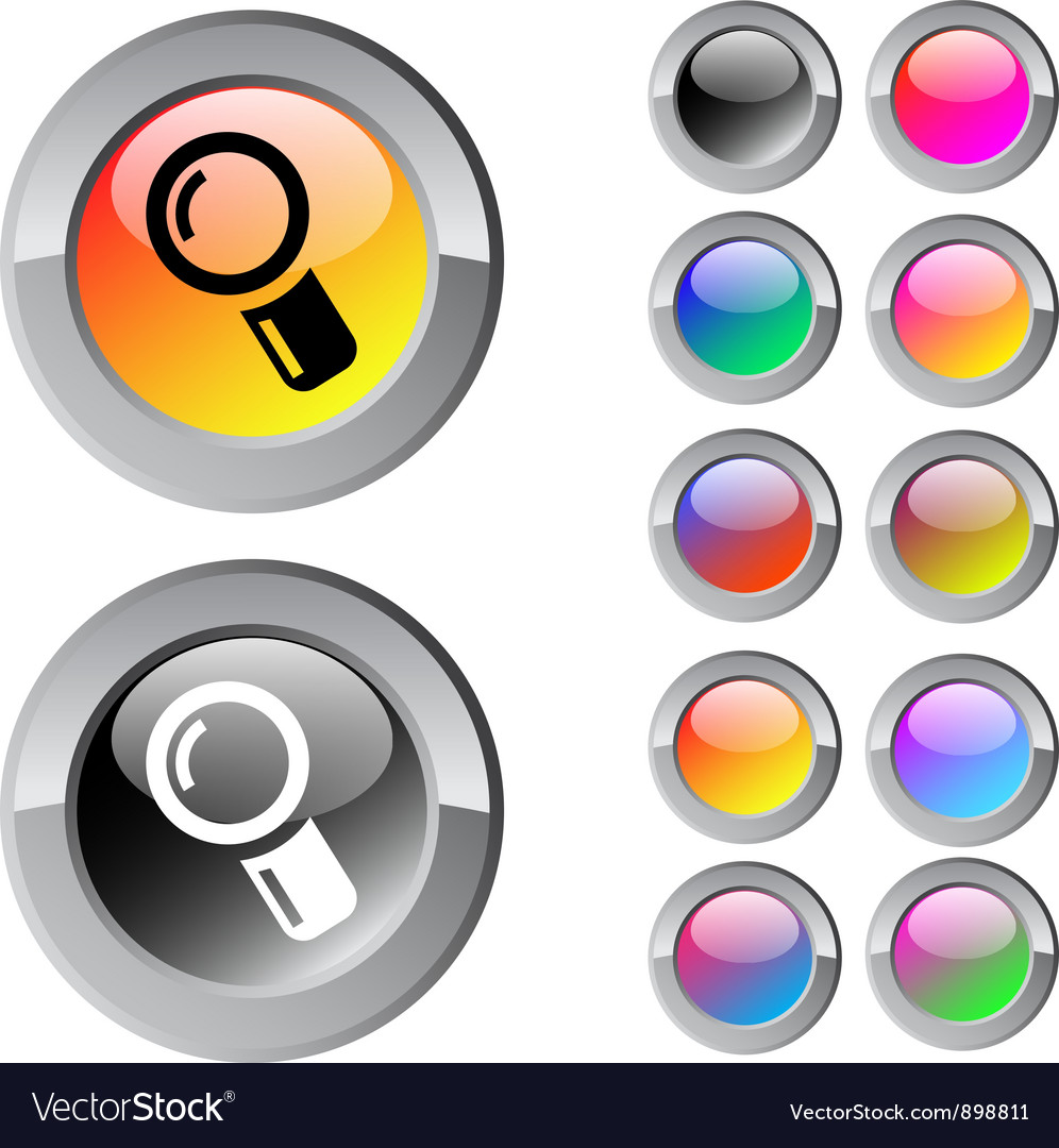 Zoom multicolor round button vector | Price: 1 Credit (USD $1)