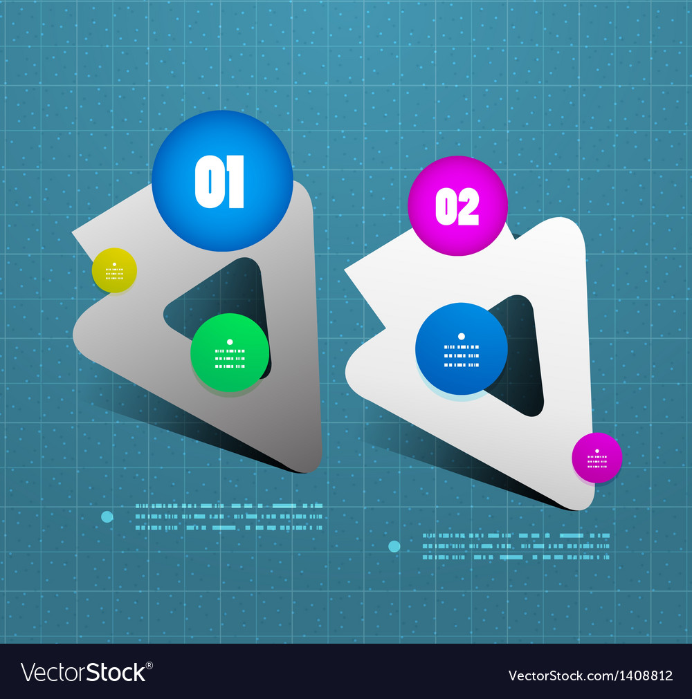 Arrow option steps banner template vector | Price: 1 Credit (USD $1)
