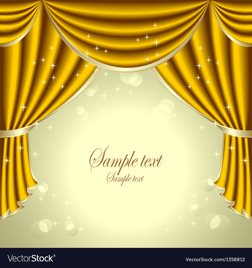 Background with gold drapes vector | Price: 3 Credit (USD $3)