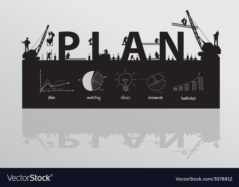 Construction site crane building plan text vector | Price: 1 Credit (USD $1)