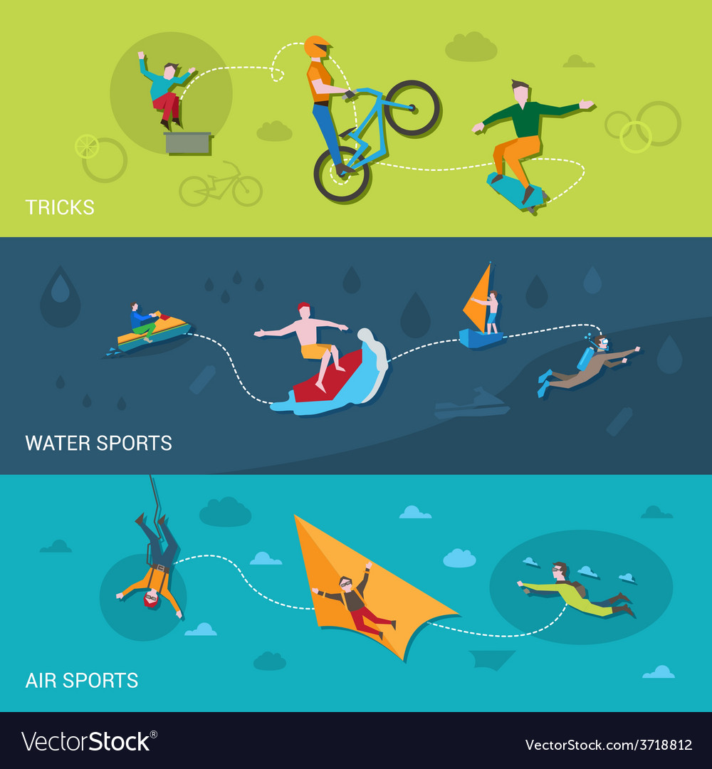 Extreme sports banners vector | Price: 1 Credit (USD $1)