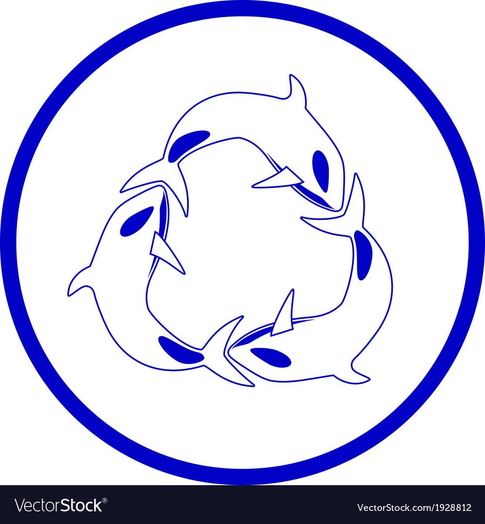 Killer whale icon vector   Price: 1 Credit (USD $1)