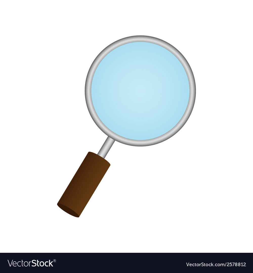Magnifying glass on white background eps 10 vector | Price: 1 Credit (USD $1)