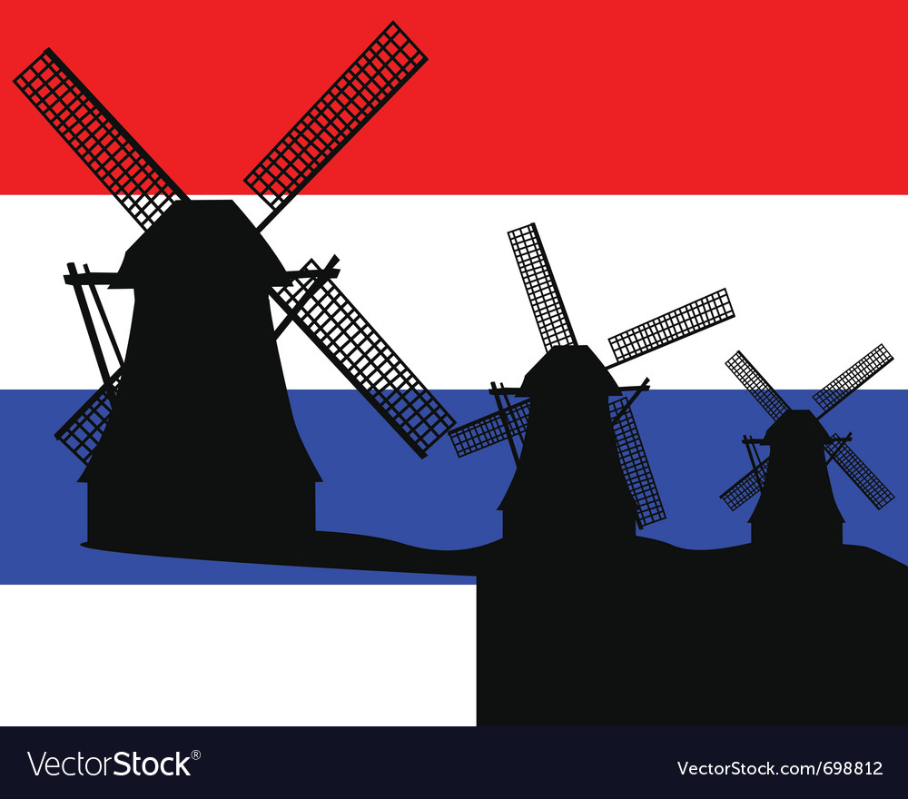 Netherlands windmill vector | Price: 1 Credit (USD $1)