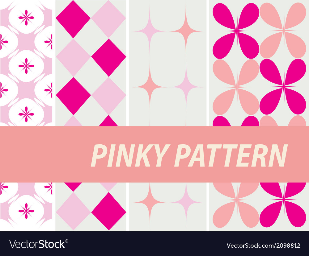 Pinky patterns vector | Price: 1 Credit (USD $1)