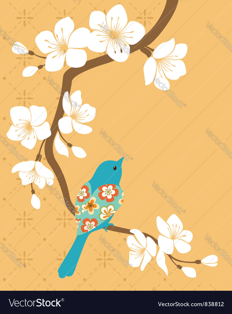 Sakura branch vector | Price: 1 Credit (USD $1)