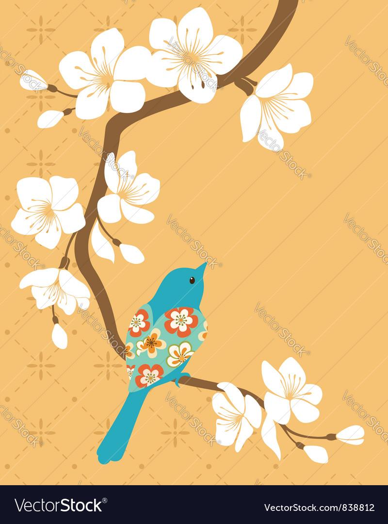 Sakura branch vector | Price: 1 Credit (USD $1)