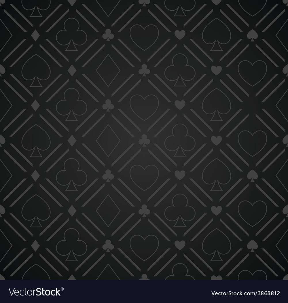 Seamless abstract poker pattern black vector | Price: 1 Credit (USD $1)