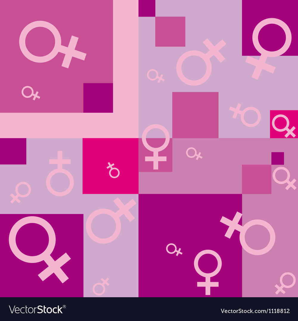 Seamless background with female symbols vector | Price: 1 Credit (USD $1)