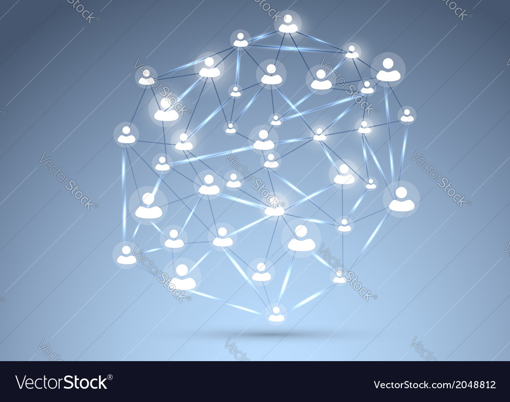 Social network concept background vector | Price: 1 Credit (USD $1)